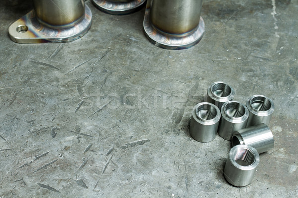 Aço nozes tabela metal tubo corpo Foto stock © c12