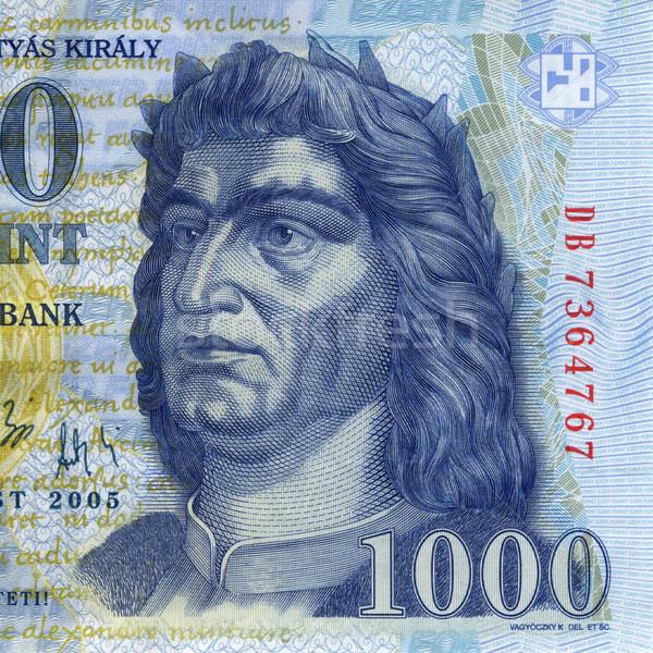 Foto stock: Húngaro · dinero · Hungría · 1000 · macro · retrato