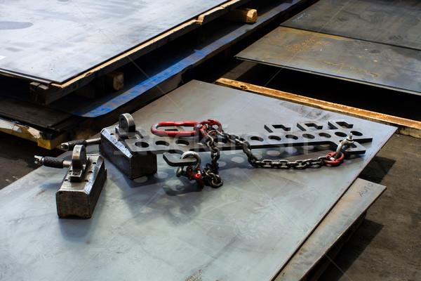 Foto stock: Aço · metal · fábrica · industrial · cadeia