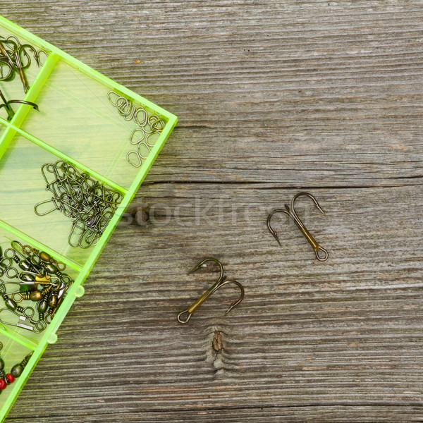 fishing tools and hooks Stock photo © c12