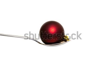 xmas ball in the spoon Stock photo © c12