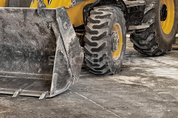 Roda escavadora grande amarelo escavadeira grande Foto stock © c12