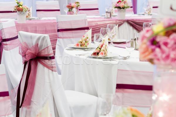 свадьба набор Изысканные ужины другой закрывается ресторан Сток-фото © c12