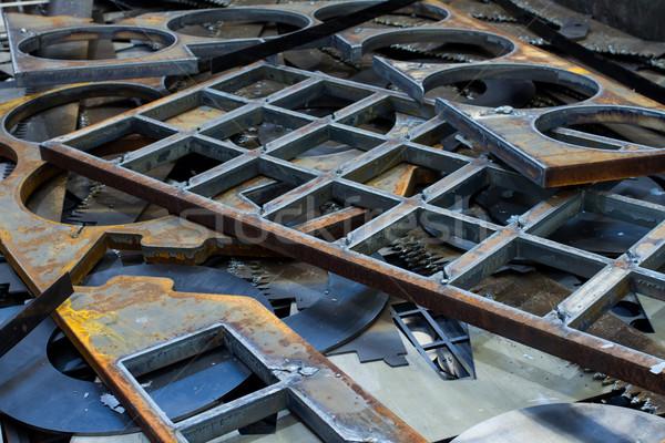 Dżonka metal streszczenie niebieski przemysłowych laserowe Zdjęcia stock © c12