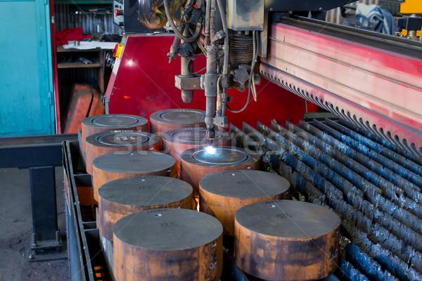 cutting metal with plasma Stock photo © c12