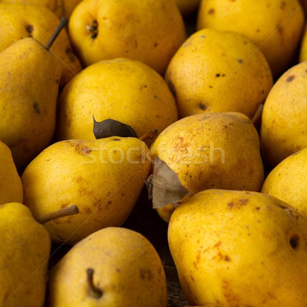 Körték citromsárga érett étel levél kert Stock fotó © c12
