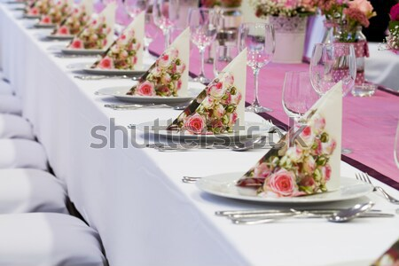 wedding tables set Stock photo © c12