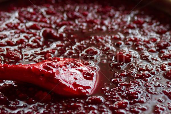 raspberry marmalade Stock photo © c12