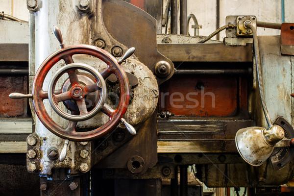 detail of lathe machine Stock photo © c12