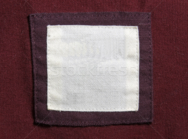 Rood kastanjebruin shirt label textuur mode Stockfoto © ca2hill