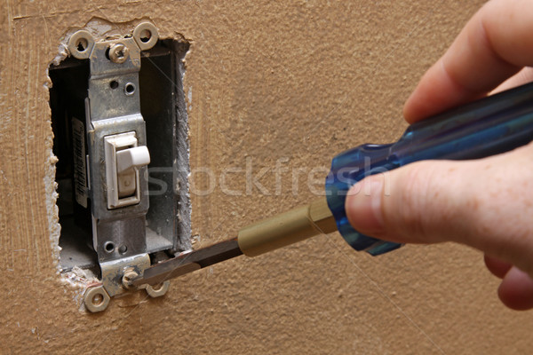Changing a Light Switch Stock photo © ca2hill