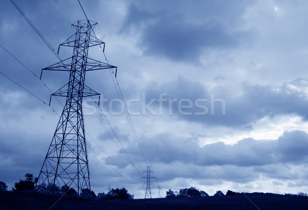 силуэта towers Blue Sky промышленности будущем Сток-фото © ca2hill
