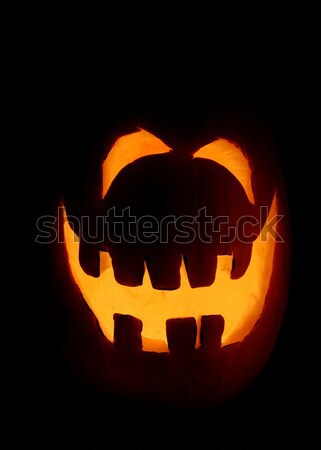 Uśmiechnięty dynia halloween noc twarz Zdjęcia stock © ca2hill