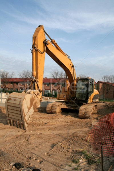 Backhoe at a Construction Site Stock photo © ca2hill