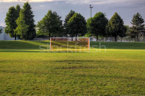 空っぽ ピッチ サッカー 目標 木 hdr ストックフォト © ca2hill