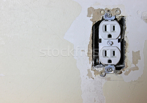 Exposed Electrical Outlet Stock photo © ca2hill