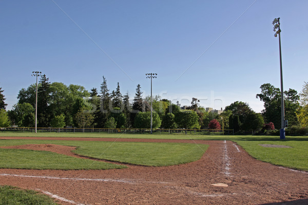 Unoccupied Baseball Diamond Stock photo © ca2hill