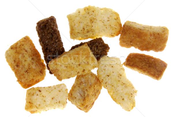 Köteg izolált fehér kenyér pirítós egészségtelen Stock fotó © ca2hill