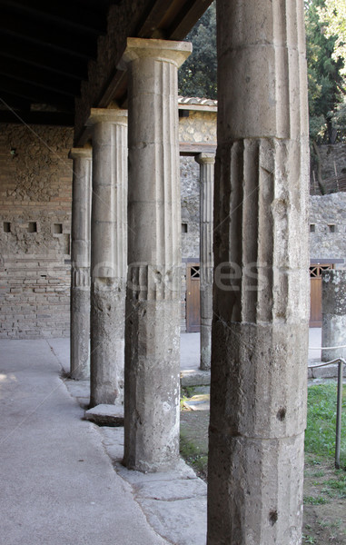 Columns in Pompeii Stock photo © ca2hill