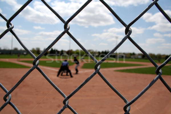 Baseball Action through the Links Stock photo © ca2hill
