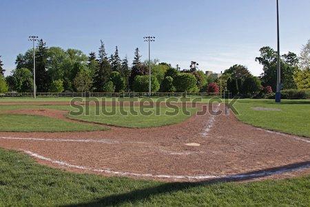 Baseball pálya lövés szabad fű sport sportok Stock fotó © ca2hill