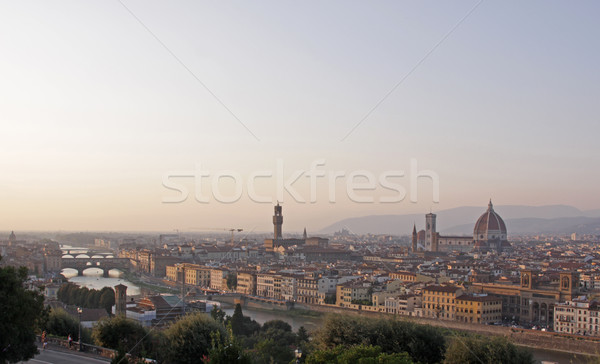FLORENCE Italie Skyline coup crépuscule Photo stock © ca2hill