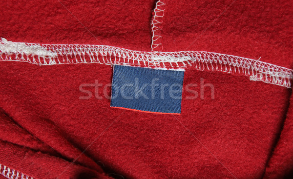 Rot Sweatshirt Label blau Textur Hintergrund Stock foto © ca2hill