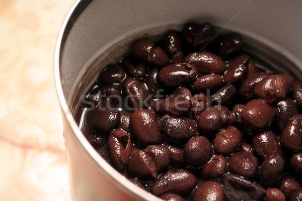 Kan zwarte bonen sappig voedsel Rood Stockfoto © ca2hill
