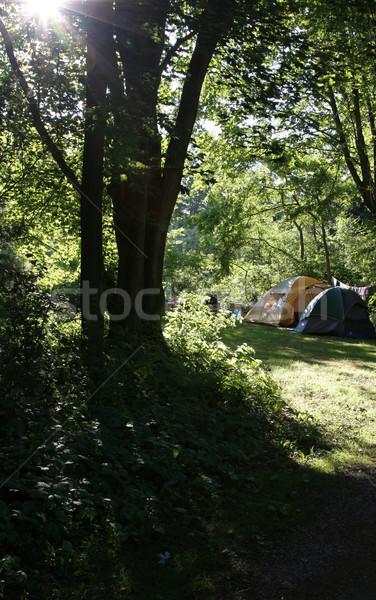 Campsite and Solar Flare Stock photo © ca2hill