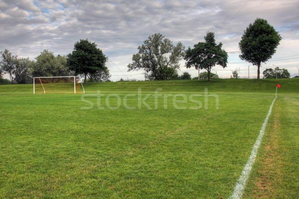 Dimly Lit Soccer Pitch Stock photo © ca2hill