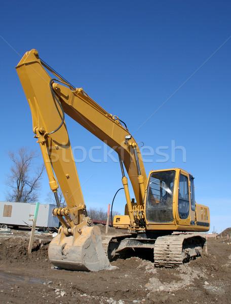 большой сидят строительная площадка грязи руки ковша Сток-фото © ca2hill
