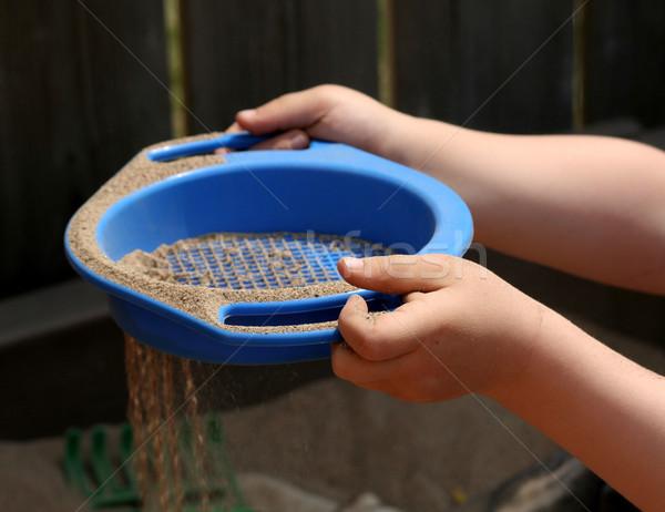 песок стороны рук дети ребенка время Сток-фото © ca2hill