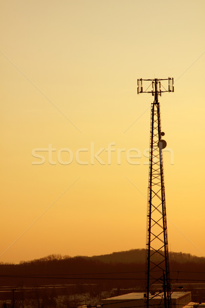 Orange Cast Cell Tower Stock photo © ca2hill