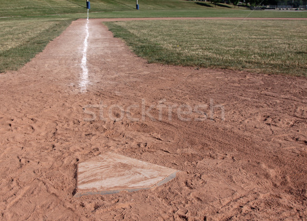 Home Plate Left Side Stock photo © ca2hill