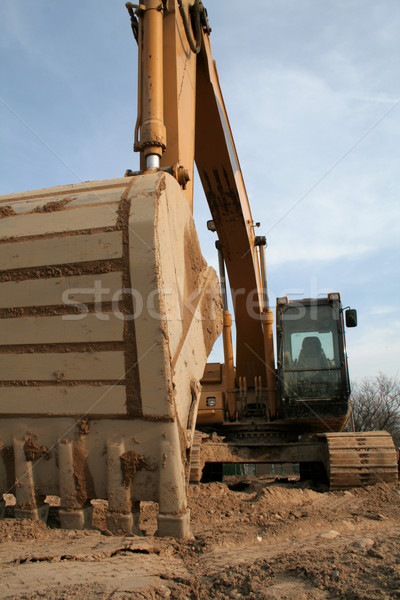 Wide Angle Backhoe from Below