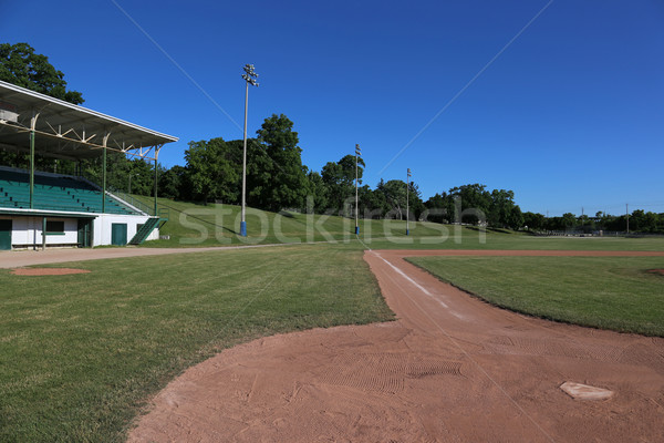 Grandstand and Baseball Field