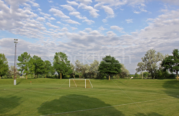 Soccer Field and Sky Stock photo © ca2hill