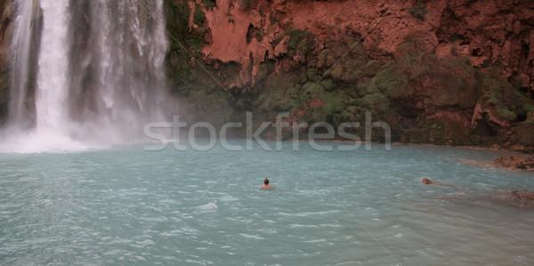 Man Beneath Havasu Falls Stock photo © ca2hill