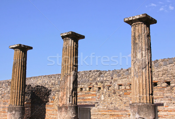 Three Columns in Pompeii
