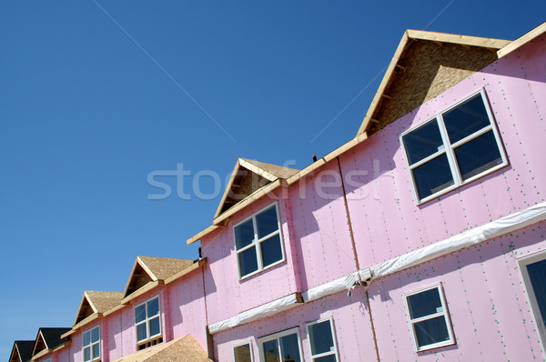Townhouse Under Construction Stock photo © ca2hill