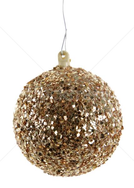 Gold Glittery Christmas Ornament Stock photo © ca2hill