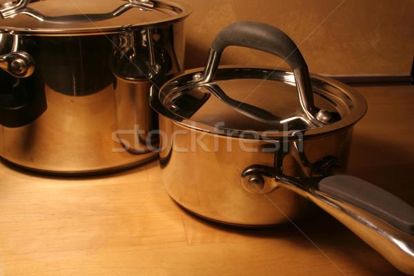 Metallic Pots Stock photo © ca2hill