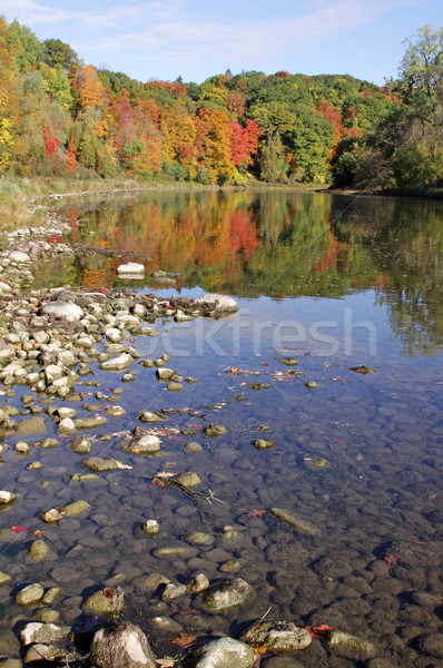 Grand River Autumn Reflection Stock photo © ca2hill