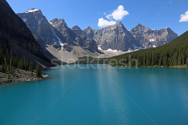 湖 堆石 コピースペース 壮大な 公園 水 ストックフォト © ca2hill