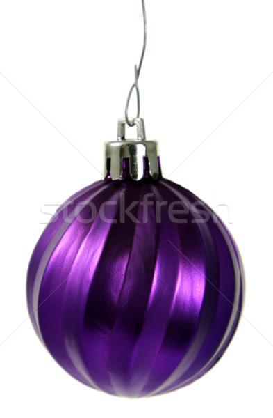 Opknoping paars christmas ornament geïsoleerd snuisterij Stockfoto © ca2hill