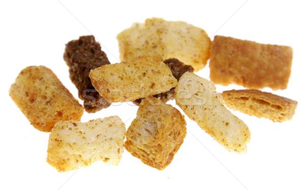 Aislado blanco pan brindis insalubre Foto stock © ca2hill