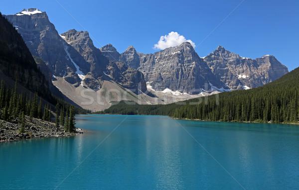 湖 堆石 ターコイズ 壮大な 公園 水 ストックフォト © ca2hill