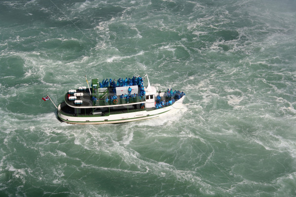 Stockfoto: Meid · mist · Niagara · Falls · natuur · reizen · waterval