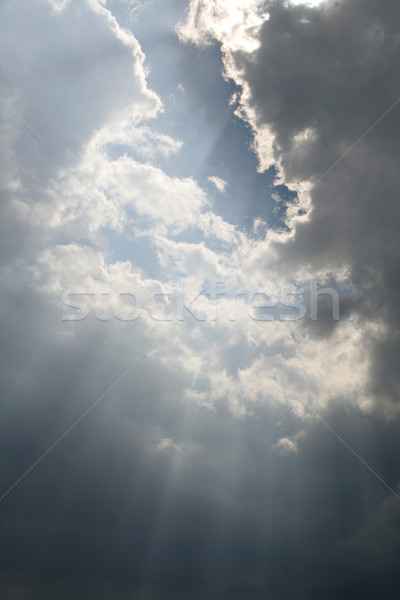 Hemel zonlicht wolken zon wolk donkere Stockfoto © ca2hill