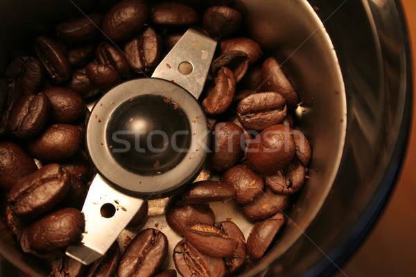 Birds Eye Coffee Grinder View